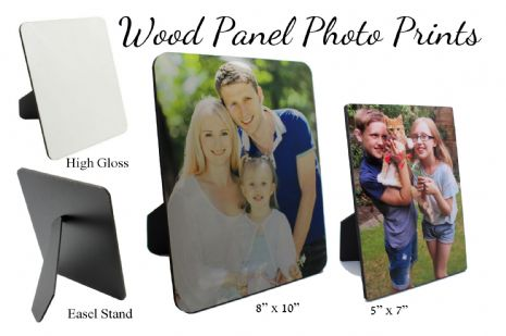 50% OFF (Damaged Stock) - Your My Picture Photo on Wood Panel Frame Print